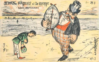 51 CARTES POSTALES ILLUSTRATEURS : La Guerre...