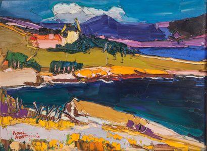 AMBROGIANI Pierre (1907 - 1985). Paysage...