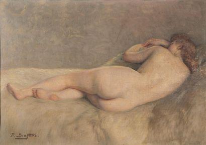 Paul SIEFFERT (1874-1957). Femme allongée....