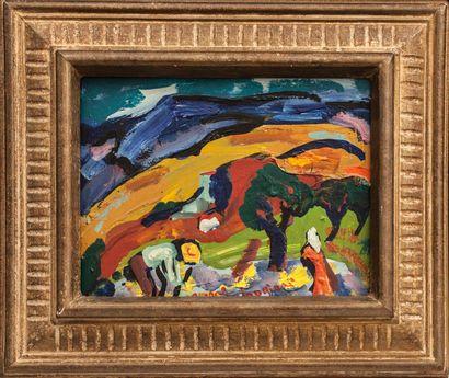 AMBROGIANI Pierre (1907-1985). Paysage. Huile...