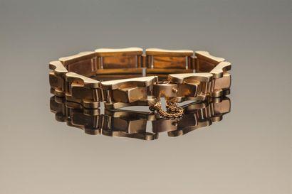 Bracelet en or 18K (750/1000e), maillons...