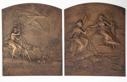 2 Grandes plaques bronze (avers et revers)....