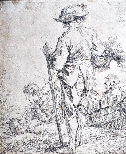 Ecole du XVIIIème siècle. Gravure représentant...