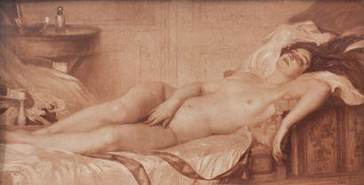 TARDIEU Victor (1870-1937). Femme nue allongée....