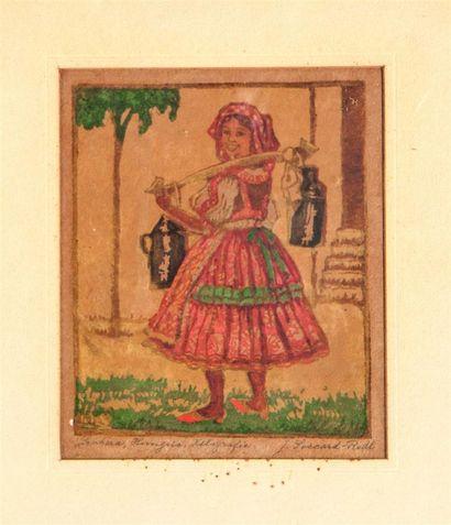SICCARD-REDL Josefine (1878-1938). Laitière,...