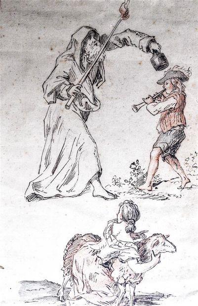 Ecole Française du XVIIIème siècle. Feuille...