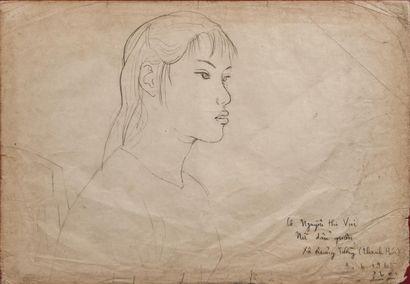 PHAI BUI Xuan (1920-1988). Jeune femme de...