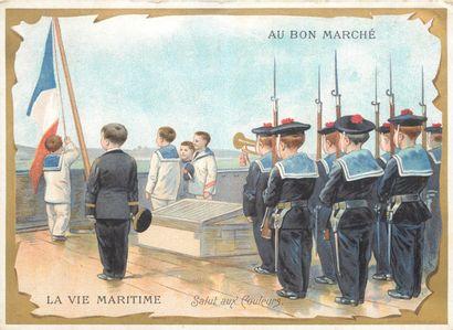 38 CHROMOS : Au Bon Marché. La Marine et...