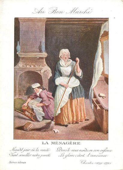 63 CHROMOS : Au Bon Marché. Scènes de Vie....