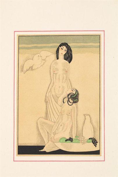 LOUYS (Pierre) - SAUVAGE (Sylvain). Les chansons de Bilitis. Paris,1927, in-4, br....
