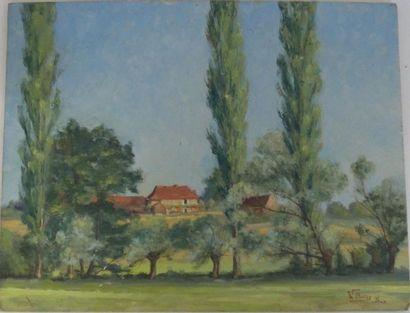 OLIVIER Walter (XXème siècle) Paysage de...