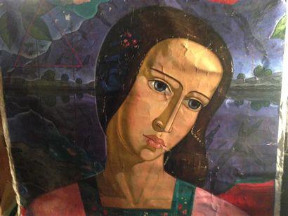 Ecole russe du XXème siècle. Portrait de...