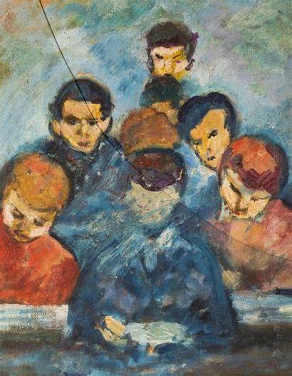 KLEIN (Ecole du XXème siècle). Groupe d'élèves....