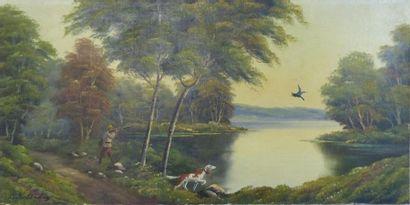 AUDREY Louis (XIX-XXème siècle). Scène de...