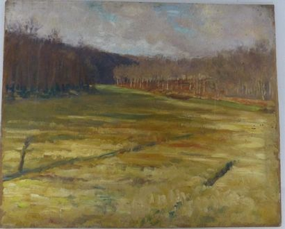 ANDRIEUX Alfred Louis (1878-1945). Paysage....