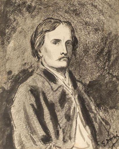 DORE Gustave (1832-1883) Portrait d'homme...