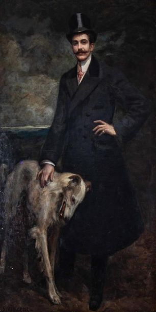 S. VINCENT (XIXe siècle) Portrait d'homme...