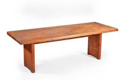 CHAPO Pierre (1927 - 1987) Table à piliers...
