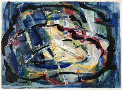 LAJEUNESSE HAMILTON Charlotte LAJEUNESSE HAMILTON (9222 - 2007) Composition abstraite...