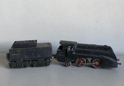 LR - 1 locomotive électrique en tôle peinte...