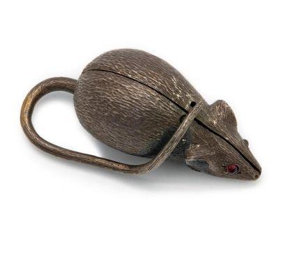 Petite boîte en forme de souris en métal,...