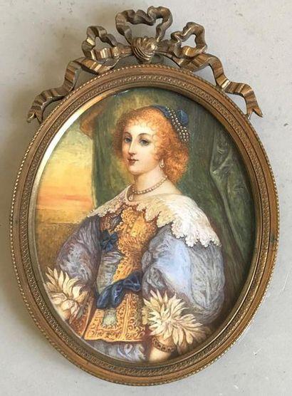 D'après Anthony VAN DYCK Portrait d'Henriette...