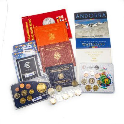 Ensemble de planches en euros de 1 centime...