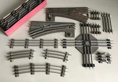 LR Ensemble de rails à traverses en métal...