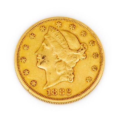 Une x 20 dollars de 1882