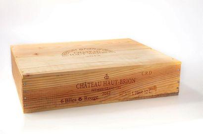 6 B CHATEAU HAUT-BRION (Caisse Bois) 1er...
