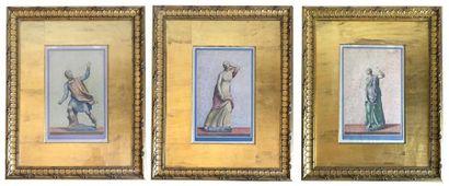 ANONYME - XIXe Sculpture représentant différents...