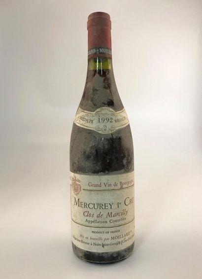 1 B MERCUREY 1er Cru Clos de Marcilly 19...