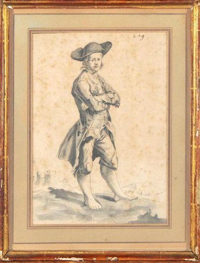 ECOLE FRANCAISE XVIIIe Portrait d'homme les...