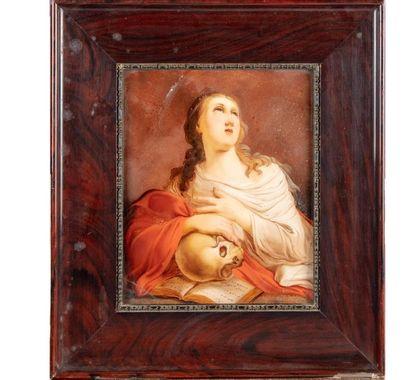 ÉCOLE FRANCAISE du XIXe Sainte en priere...