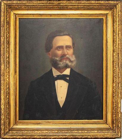 ECOLE FRANCAISE milieu XIXe Portrait d'homme...