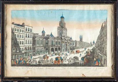 ECOLE FRANCAISE du XVIIIe 3 vues d'optiques...