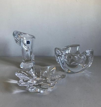 Cristallerie de SEVRES Ensemble de trois...