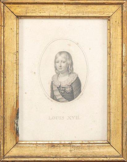 ECOLE FRANCAISE XIXe Portrait Louis XVII...