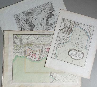 Ensemble de trois plans et cartes du Port...
