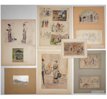 Jules Antoine VOIRIN (1833-1898) Ensemble...