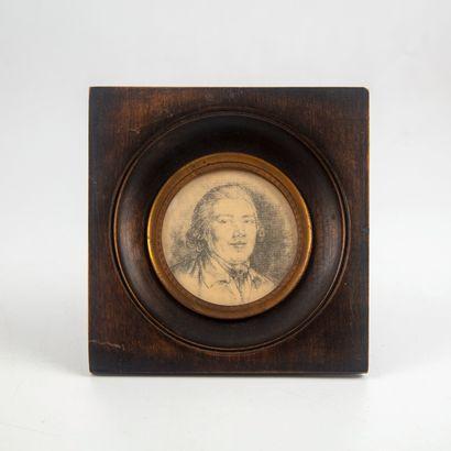 Portrait d'homme  Gravure  XIXe  Encadré...