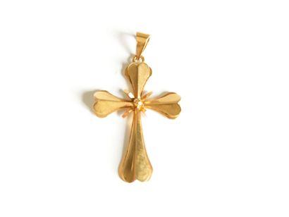 Croix en or jaune  Tête d'aigle - Poids :...
