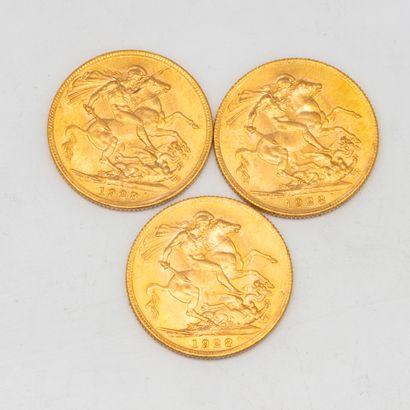Trois souverains or Georges V