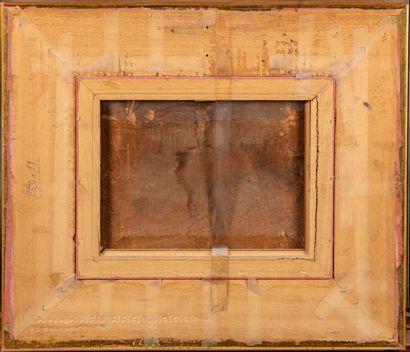 BRAEKELLER Henri de BRAEKELLER (1840-1888)  L'intérieur d'une forge  Huile sur panneau...