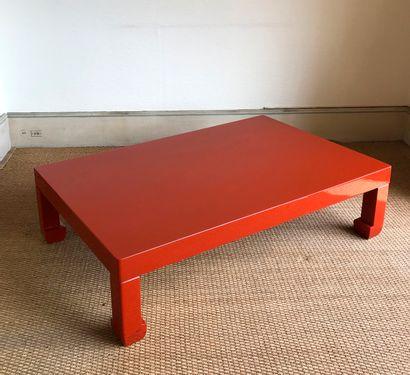 Table basse de forme rectangulaire en bois...