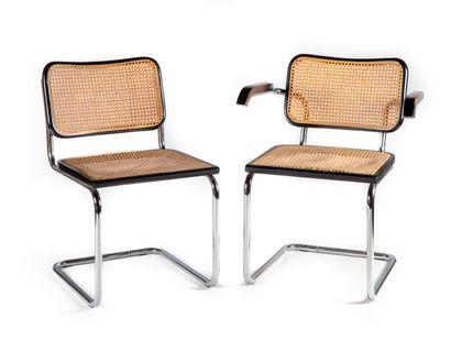 Ensemble composé d'une chaise et d'un fauteuil...