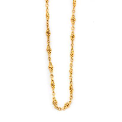 Chaine en or jaune  Poids : 6,8 g.