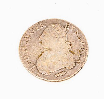 Ecu en argent, profil de Louis XVI  Epoque...