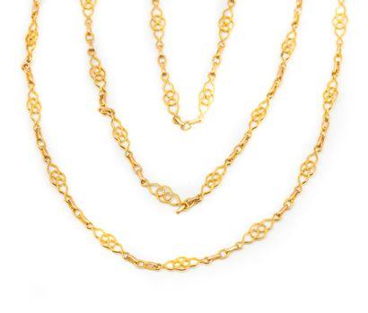 Sautoir en or jaune transformé en collier...
