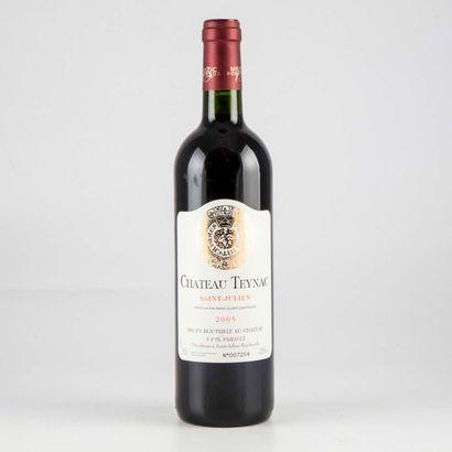 1 bouteille CHATEAU TEYNAC 2005 Saint Ju...